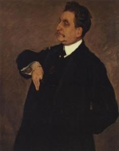 В. А. Серов Портрет В. О. Гиршмана. 1911 г