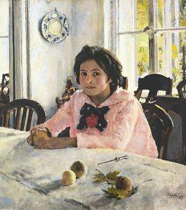 Девочка с персиками, 1887 г.