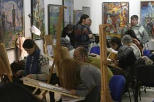 Занятие студии в муниципальной галерее