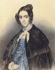 Варвара Николаевна на портрете работы Т. Шевченко