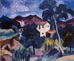 Крымский пейзаж 1915 г. Холст, масло 78 х 88 см
