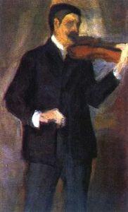 Матюшин на портрете работы Елены Гуро, 1903 г.