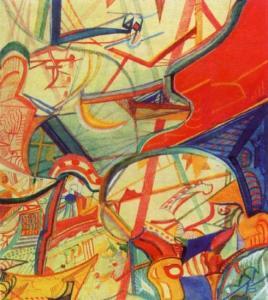 Михаил Матюшин. Цветок человека. 1918 год, холст, масло. Государственный Русский Музей