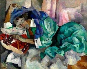 Роберт Фальк. Спящая цыганка. 1909(12) год.