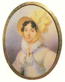 Варвара Волконская-Репнина. Художник Жан-Анри Беннер, 1817 год